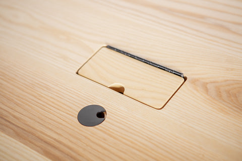 wooden flip lid for power box