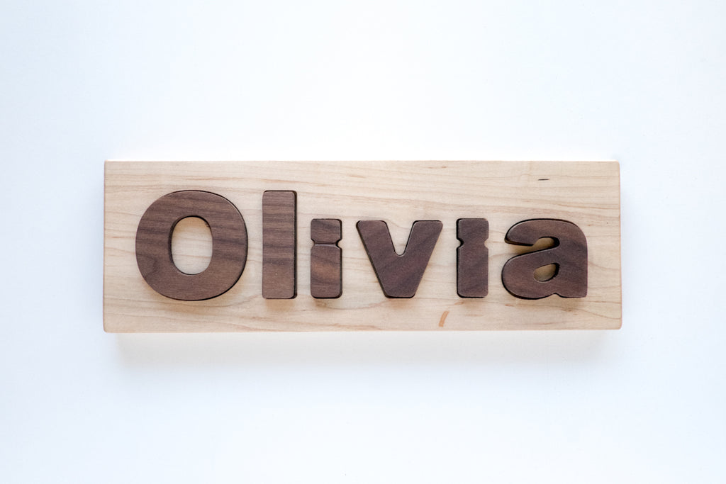 personalized wood name puzzle