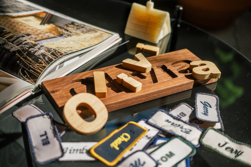 personalized wooden puzzle for toddlers