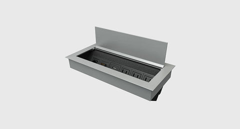 Ellora Power Box in silver aluminum