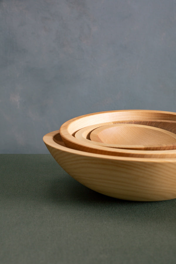 solid wood salad bowl set