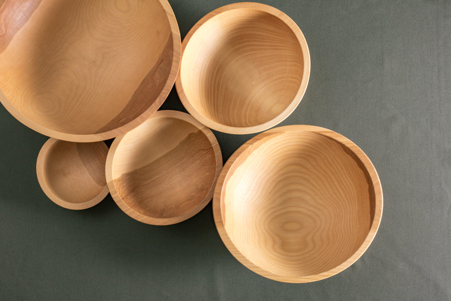 solid wood salad bowls