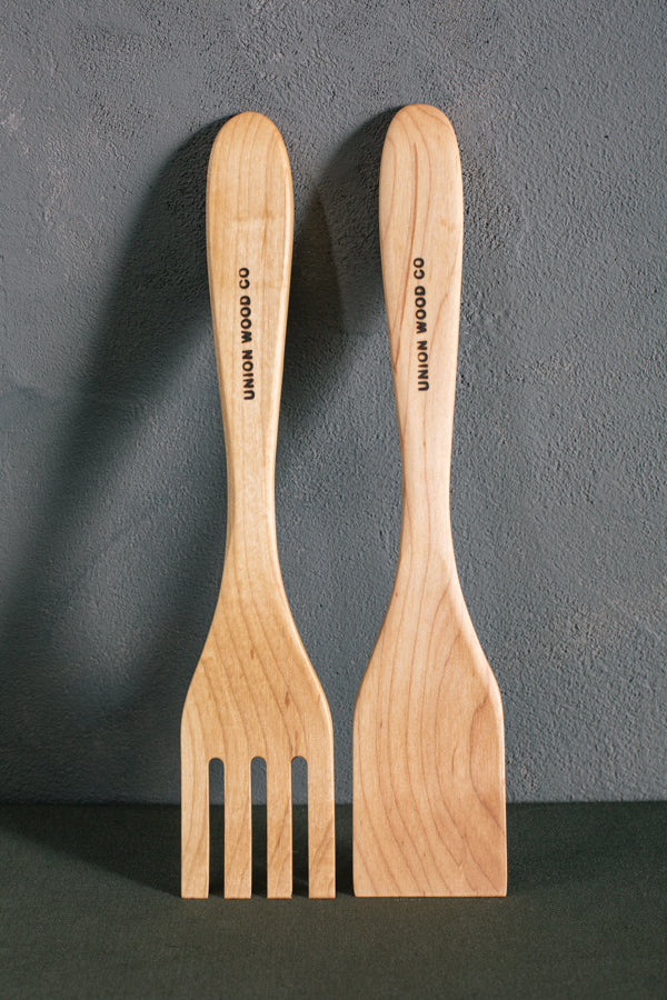 personalized wood salad servers