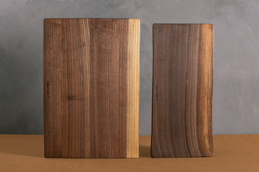 personalized live edge cutting boards