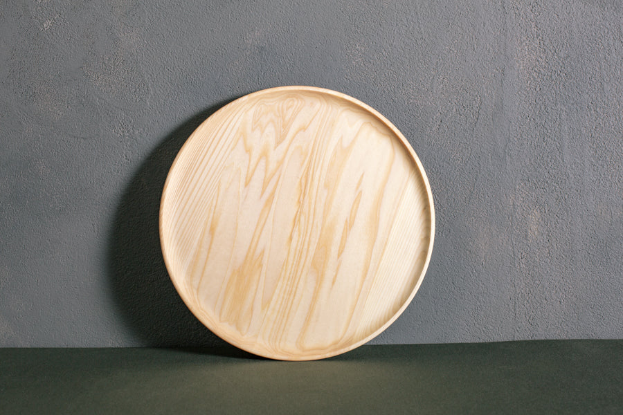 personalized wood plate narrow rim