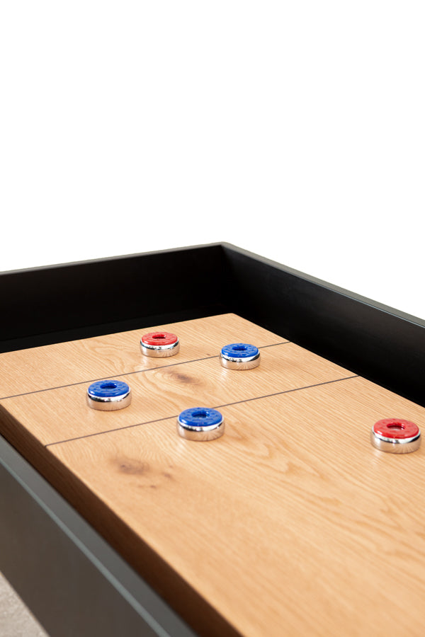 modern solid wood shuffleboard table