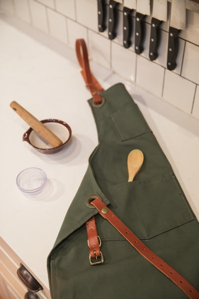 Union Shop Apron (Green Canvas)