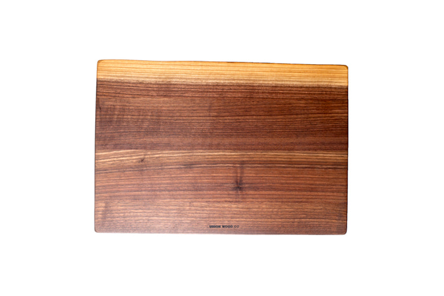personalized live edge cutting board