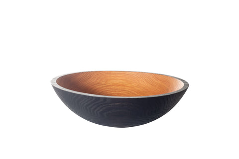 blackened wood bowl