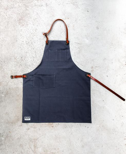 grey canvas apron