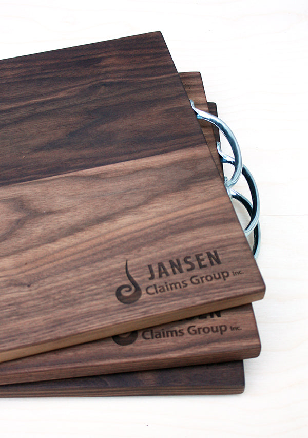 custom cutting boards walnut