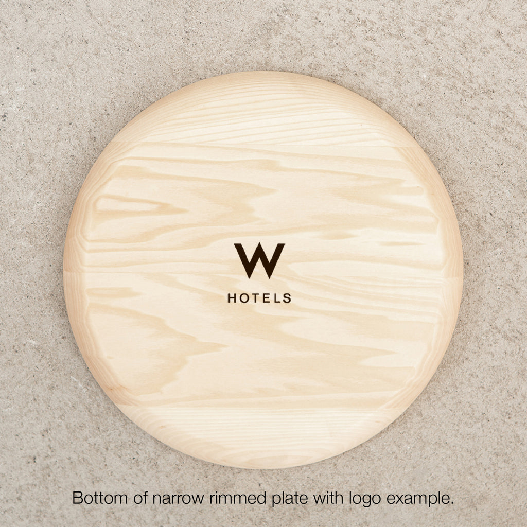personalized wood plate with logo