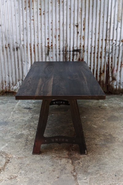 vintage industrial meeting table