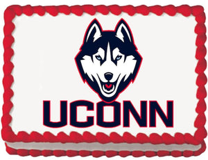Connecticut Huskies Edible Cake, Cupcake & Cookie Topper - Trish Gayle