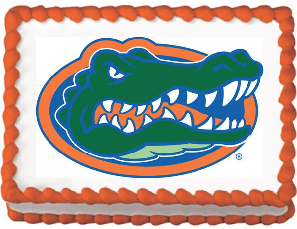 Florida Gator Edible Cake, Cupcake & Cookie Topper - Trish Gayle