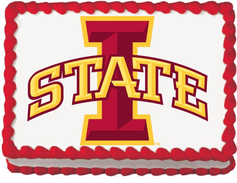 Iowa State Cardinals Edible Cake, Cupcake & Cookie Topper - Trish Gayle