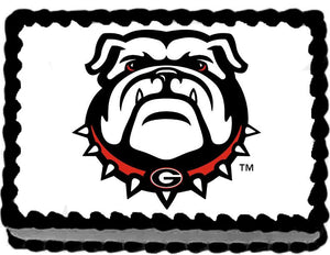 Georgia Bulldogs Edible Cake, Cupcake & Cookie Topper - Trish Gayle