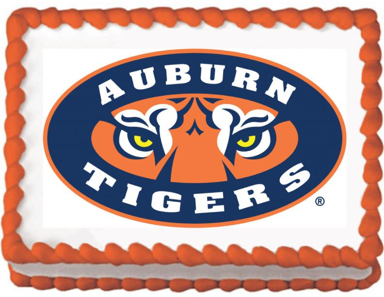 Auburn Tigers Edible Cake, Cupcake & Cookie Topper - Trish Gayle
