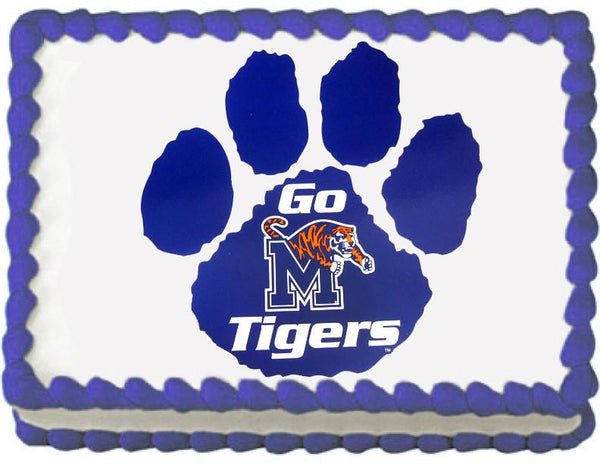 Memphis Tigers Paw Edible Cake, Cupcake & Cookie Topper - Trish Gayle