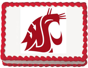 Washington State Cougars Edible Cake, Cupcake & Cookie Topper - Trish Gayle