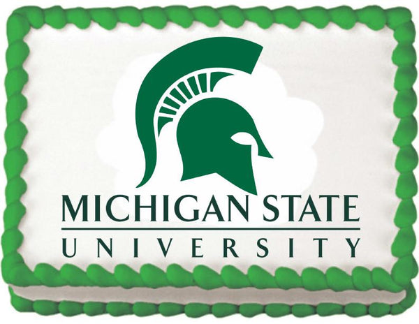 Michigan State Spartans Edible Cake, Cupcake & Cookie Topper - Trish Gayle