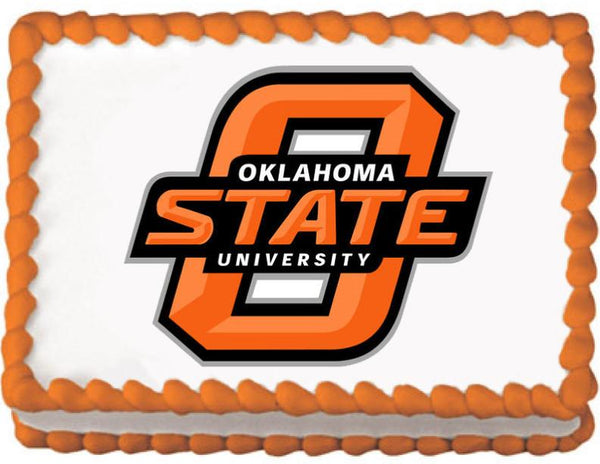 Oklahoma State Cowboys Edible Cake, Cupcake & Cookie Topper - Trish Gayle