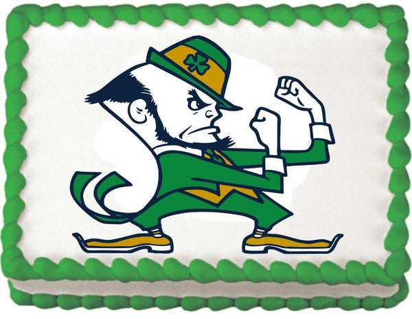 Notre Dame Fighting Irish Edible Cake, Cupcake & Cookie Topper - Trish Gayle