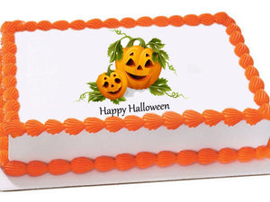 Jack o' Lantern Garden Family Edible Cake, Cupcake & Cookie Topper - Trish Gayle