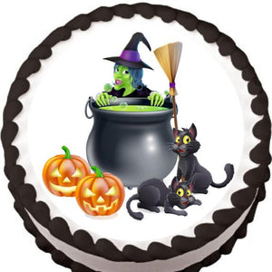 Witch's Brew Halloween Edible Cake, Cupcake & Cookie Topper - Trish Gayle
