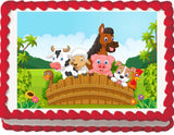 Barnyard Animals Edible Cake, Cupcake & Cookie Topper - Trish Gayle
