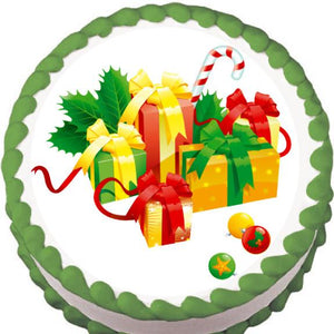 Christmas Gifts Edible Cake, Cupcake & Cookie Topper - Trish Gayle