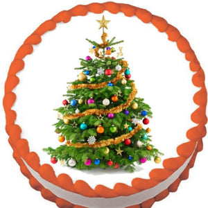 Christmas Tree Edible Cake, Cupcake & Cookie Topper - Trish Gayle