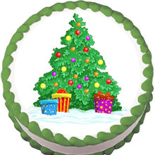 Load image into Gallery viewer, Cartoon Christmas Tree Edible Cake, Cupcake & Cookie Topper - Trish Gayle