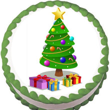 Load image into Gallery viewer, Presents around the Tree Christmas Edible Cake, Cupcake & Cookie Topper - Trish Gayle