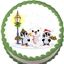 Load image into Gallery viewer, Lamplight Carollers Christmas Edible Cake, Cupcake & Cookie Topper - Trish Gayle
