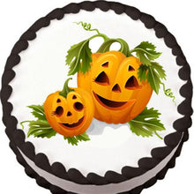 Load image into Gallery viewer, Jack o' Lantern Garden Family Edible Cake, Cupcake & Cookie Topper - Trish Gayle