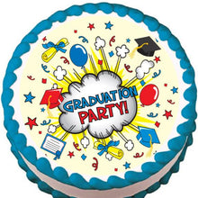 Load image into Gallery viewer, Graduation Party Edible Cake, Cupcake & Cookie Topper - Trish Gayle