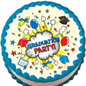 Graduation Party Edible Cake, Cupcake & Cookie Topper - Trish Gayle