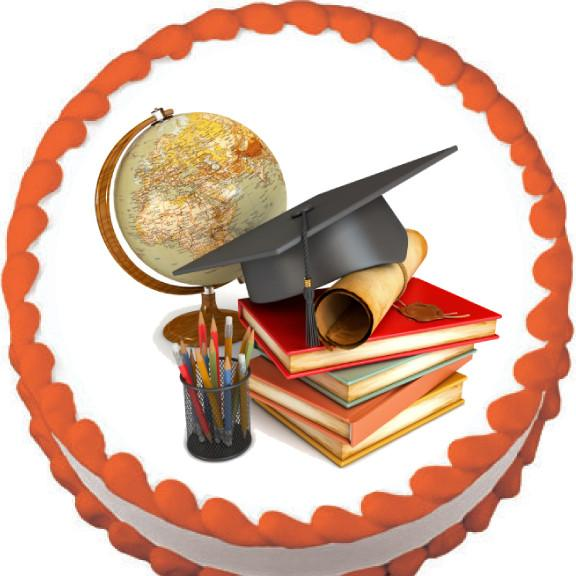 Graduation School Icons Edible Cake, Cupcake & Cookie Topper - Trish Gayle
