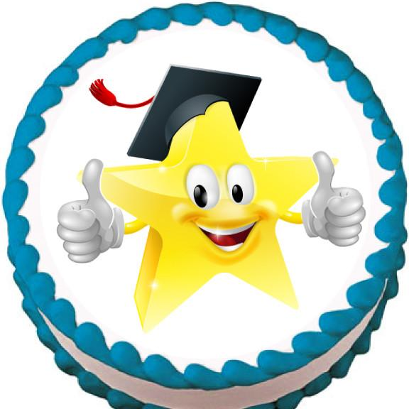 Graduate Star Edible Cake, Cupcake & Cookie Topper - Trish Gayle