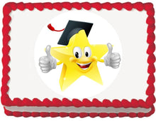 Load image into Gallery viewer, Graduate Star Edible Cake, Cupcake & Cookie Topper - Trish Gayle