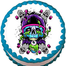 Load image into Gallery viewer, Skateboard Zombie Edible Cake, Cupcake & Cookie Topper - Trish Gayle