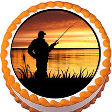 Load image into Gallery viewer, Sunrise Fishing Edible Cake, Cupcake & Cookie Topper - Trish Gayle