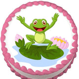 Happy Frog Edible Cake, Cupcake & Cookie Topper - Trish Gayle