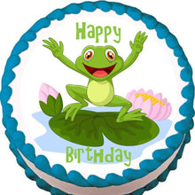 Load image into Gallery viewer, Happy Frog Edible Cake, Cupcake & Cookie Topper - Trish Gayle