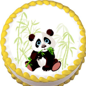 Panda and Bamboo Edible Cake, Cupcake & Cookie Topper - Trish Gayle