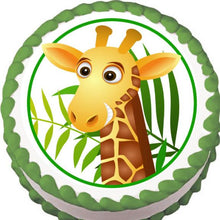 Load image into Gallery viewer, Giraffe Edible Cake, Cupcake & Cookie Topper - Trish Gayle