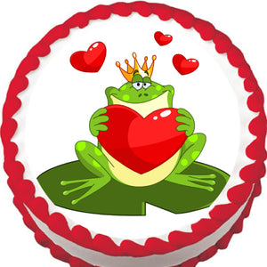 Prince Charming Frog Edible Cake, Cupcake & Cookie Topper - Trish Gayle