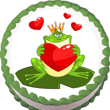Load image into Gallery viewer, Prince Charming Frog Edible Cake, Cupcake & Cookie Topper - Trish Gayle