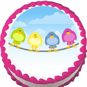 Birds on a Wire Edible Cake, Cupcake & Cookie Topper - Trish Gayle